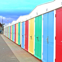 Exmouth's beach huts.