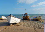Boats on Sidmouth beach