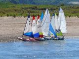 Sailing boats on Dawlish Warren.