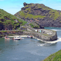A view of Boscastle in Cornwall