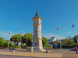 Exmouth's seafront clock tower