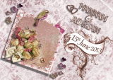 Example of personalised wedding card
