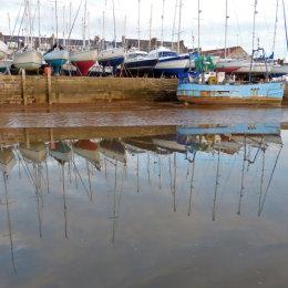 Yachts on Topsham Quay