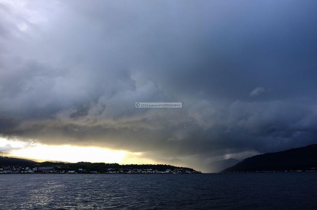 Storm over Holy Loch