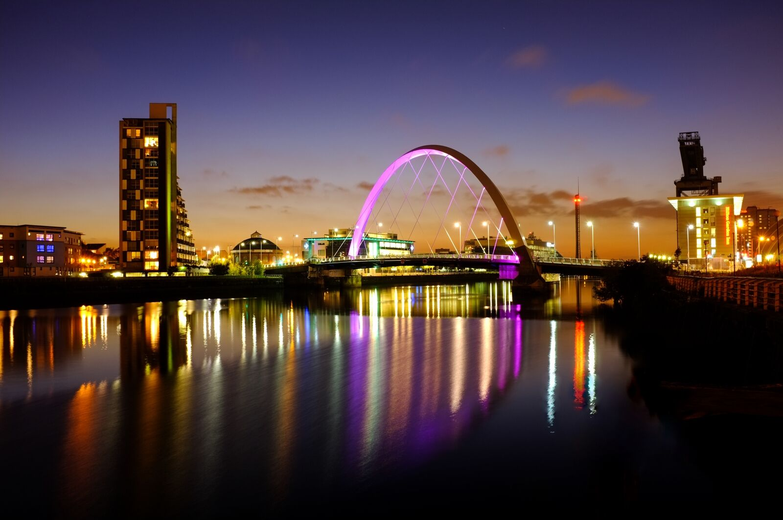 The Clyde Arc at sunset