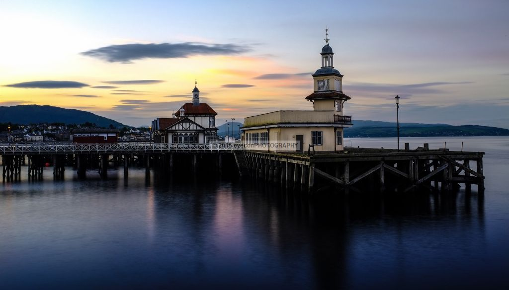 Sunset above Dunoon Pier