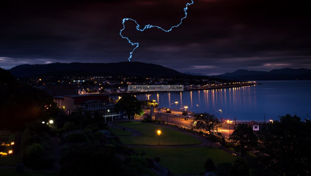 Lightning bolt above Dunoon