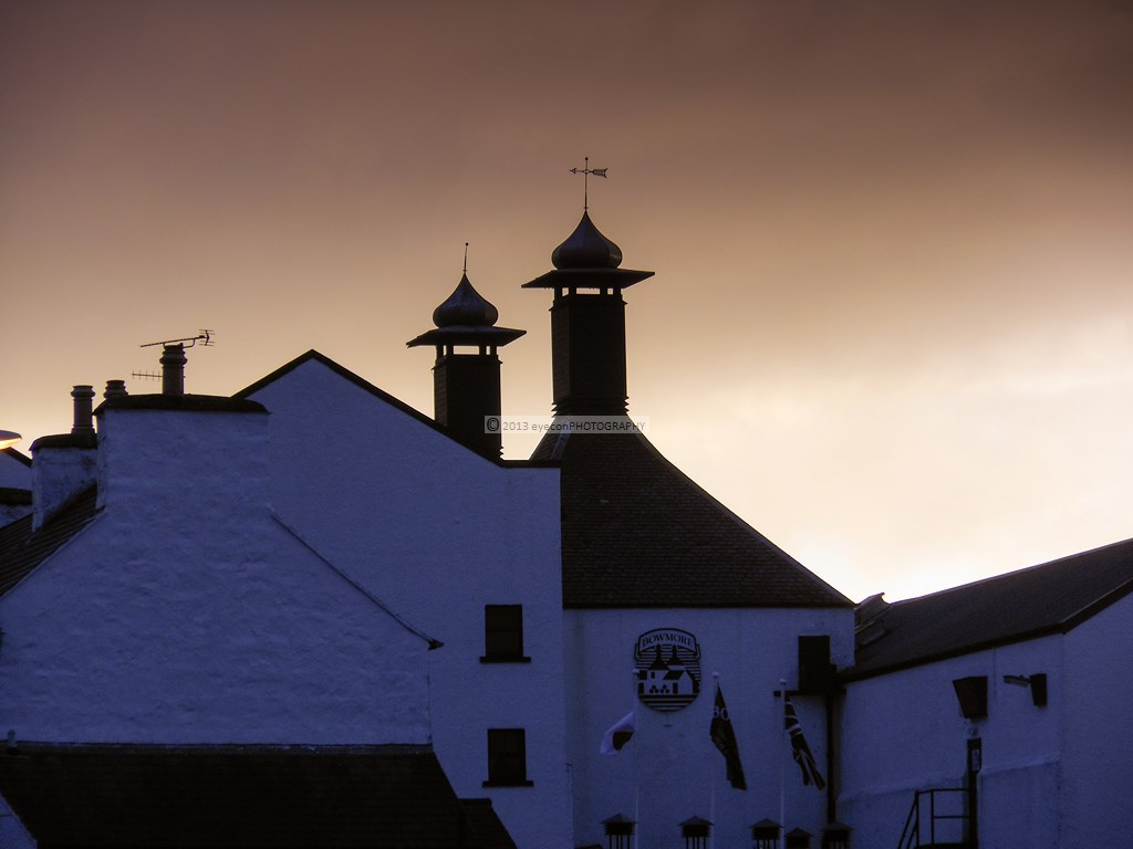 Sunset over Bowmore Distillery