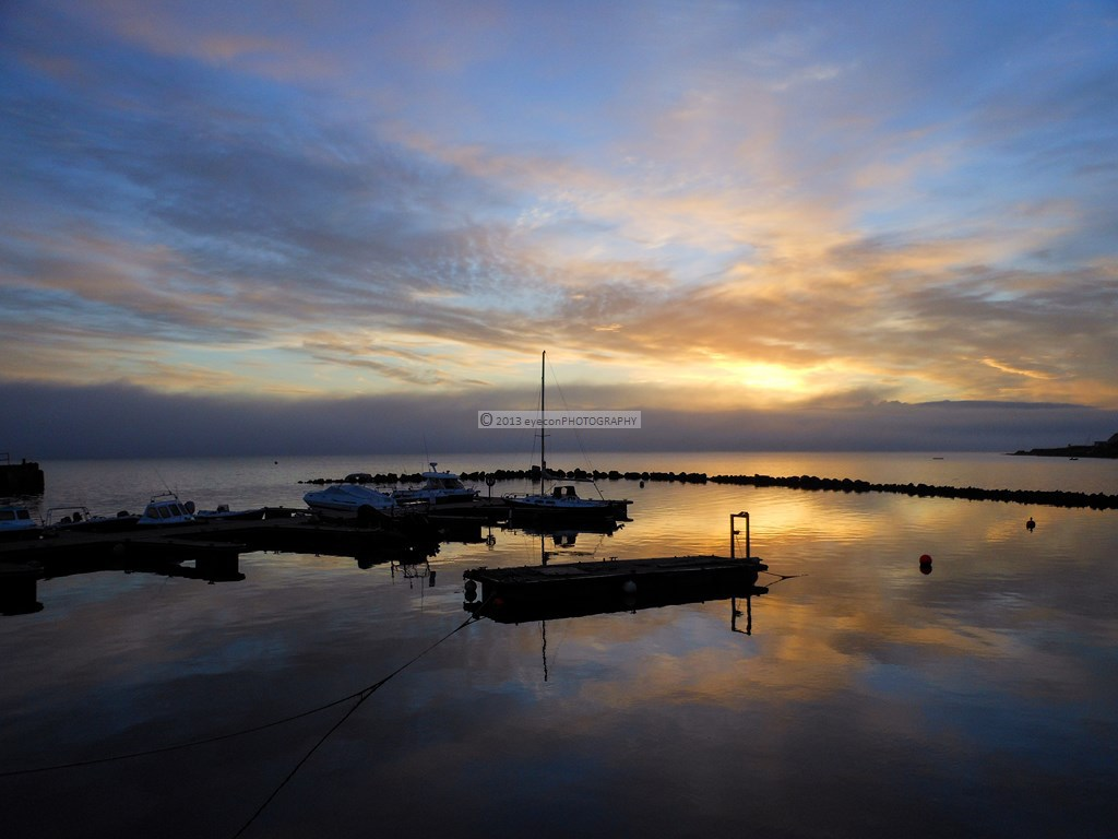 Bowmore harbor at sunrise