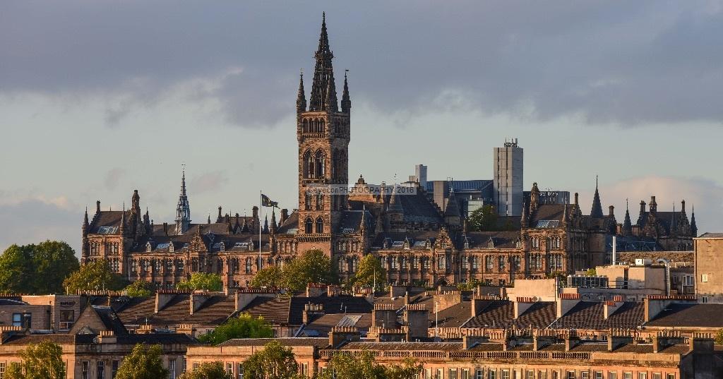 University of Glasgow at sunset
