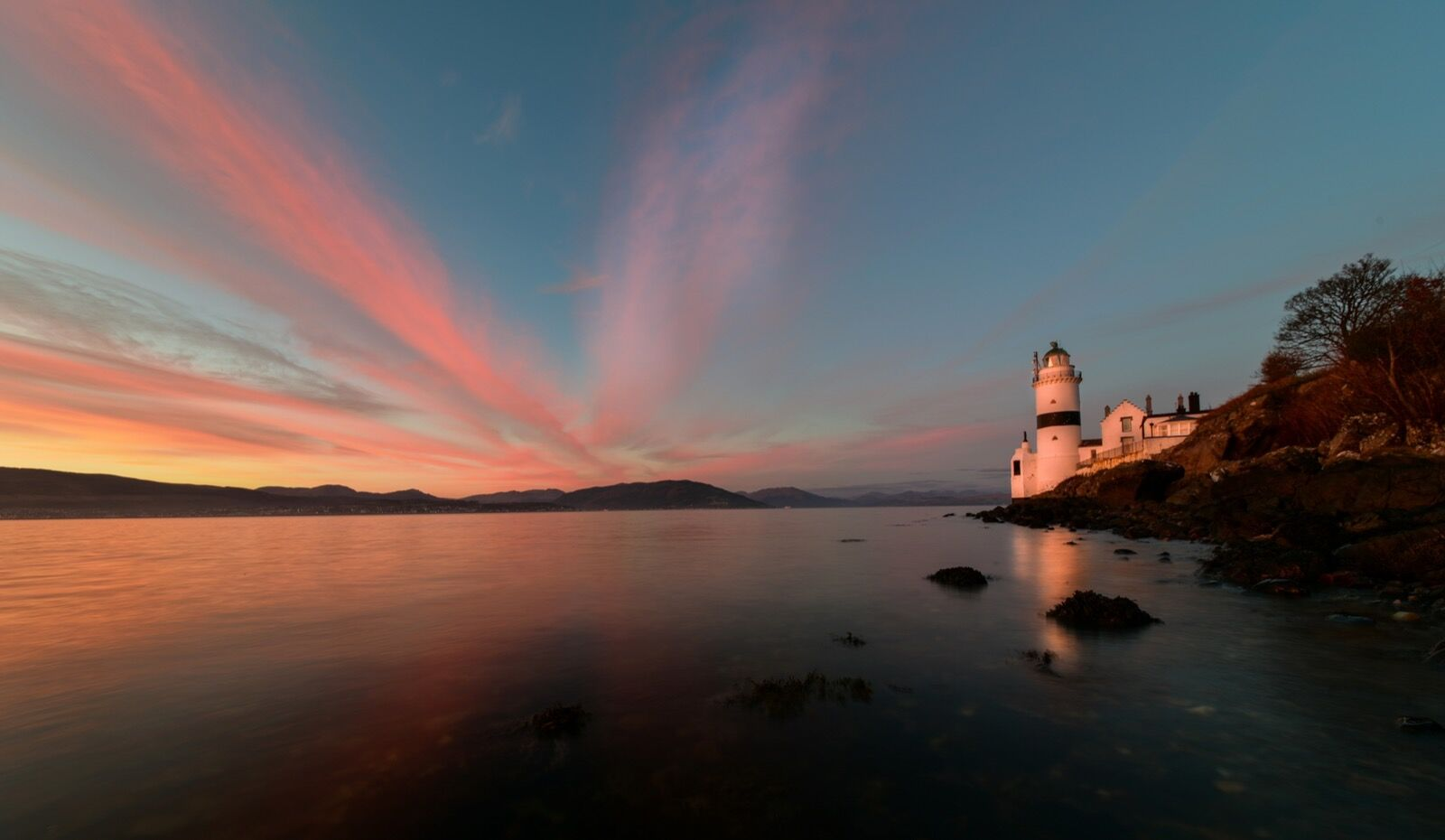 Cloch Lighthouse Sunset