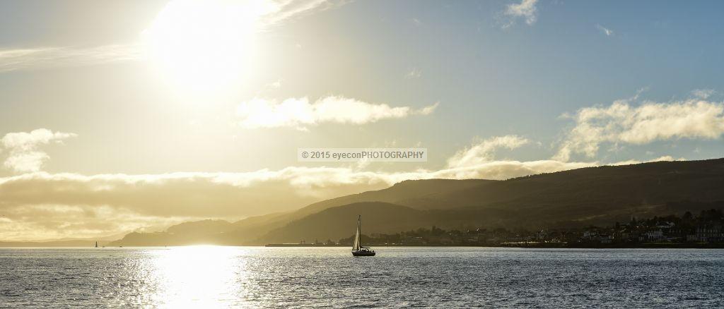 Sailing off Golden Hills