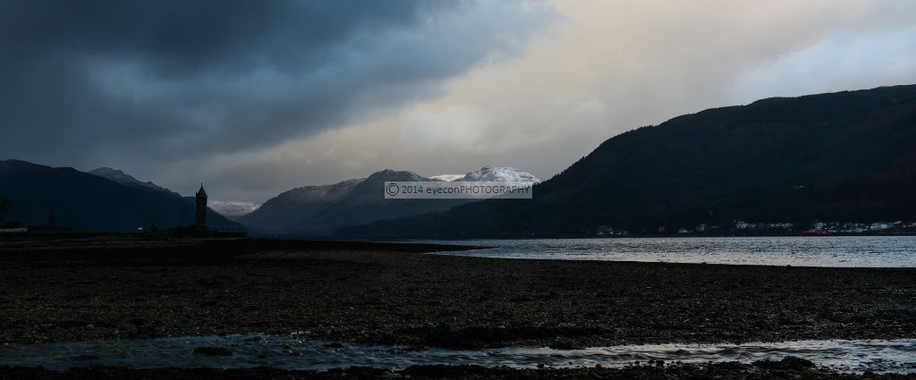 Winter shower over Holy Loch