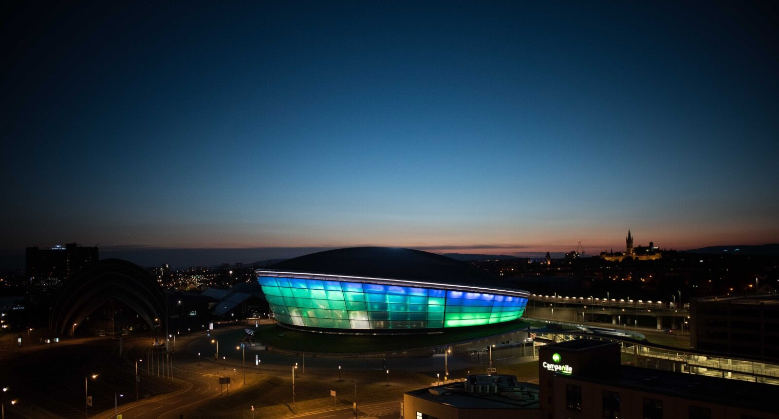 SSE HYDRO Arena at dusk