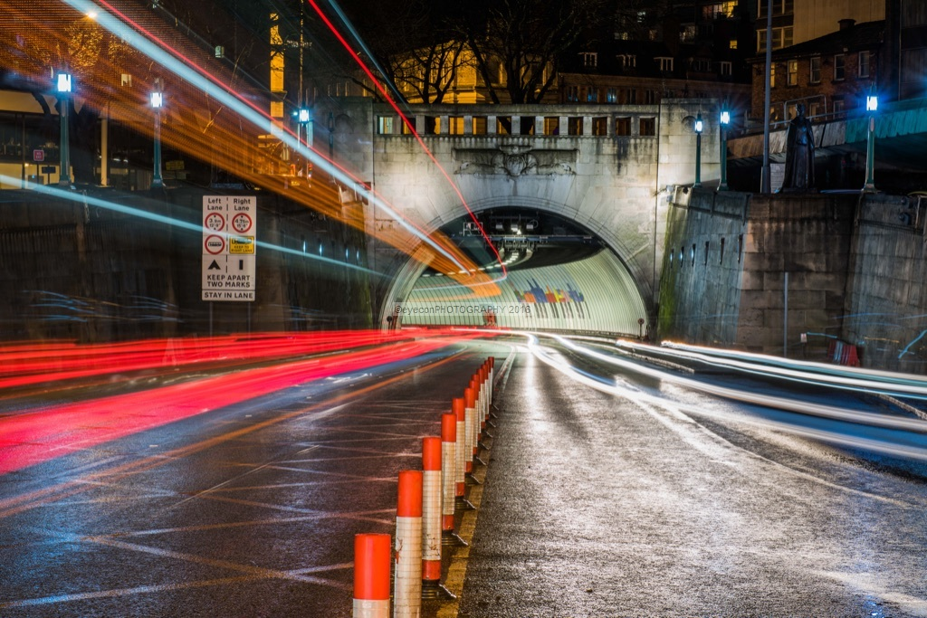 Queensway Tunnel Light Trails