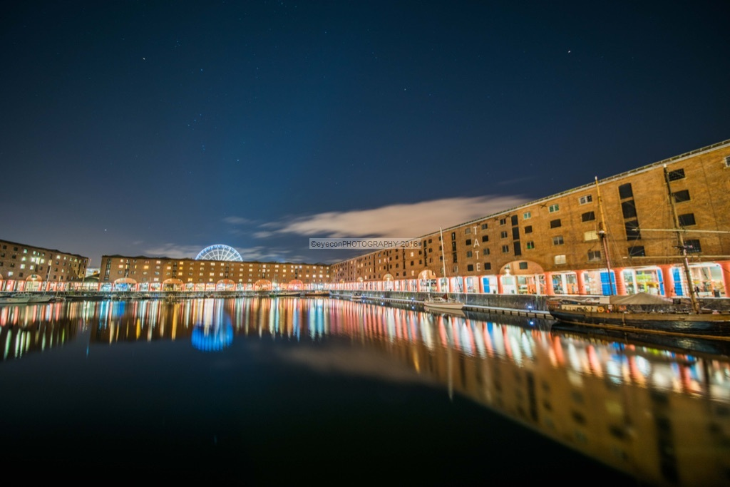 Orion's Belt above Royal Albert Dock