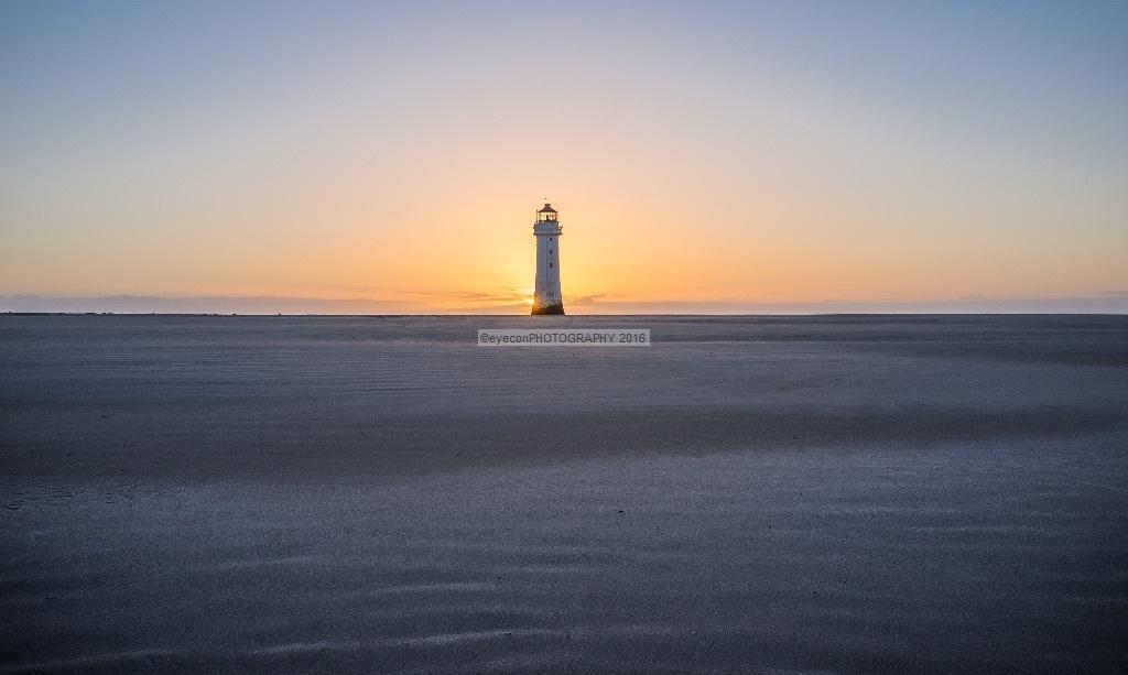 Lighthouse on the horizon
