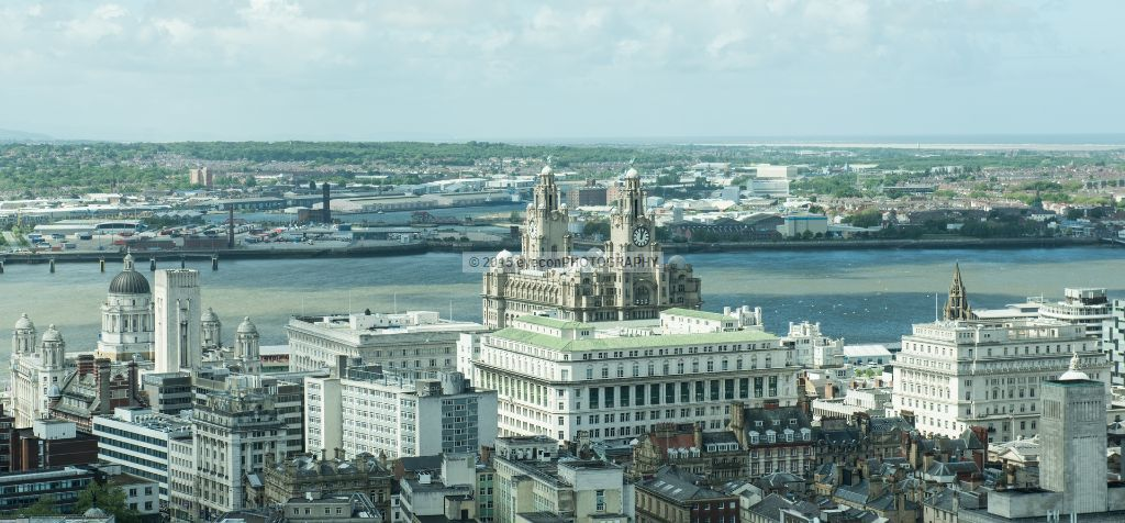 Royal Liver Building from above