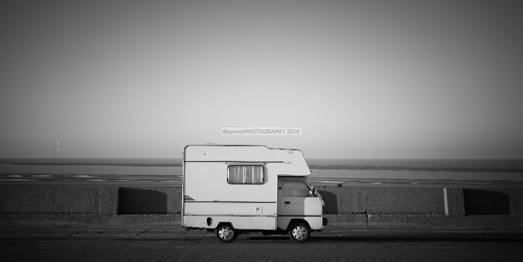 Camping on the prom