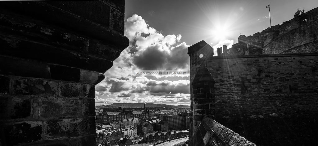 Edinburgh Castle Sunburst