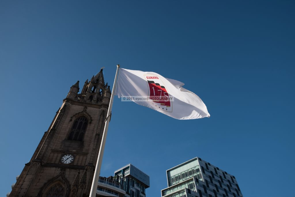 St Nick's Liverpool and the flag of CUNARD 175