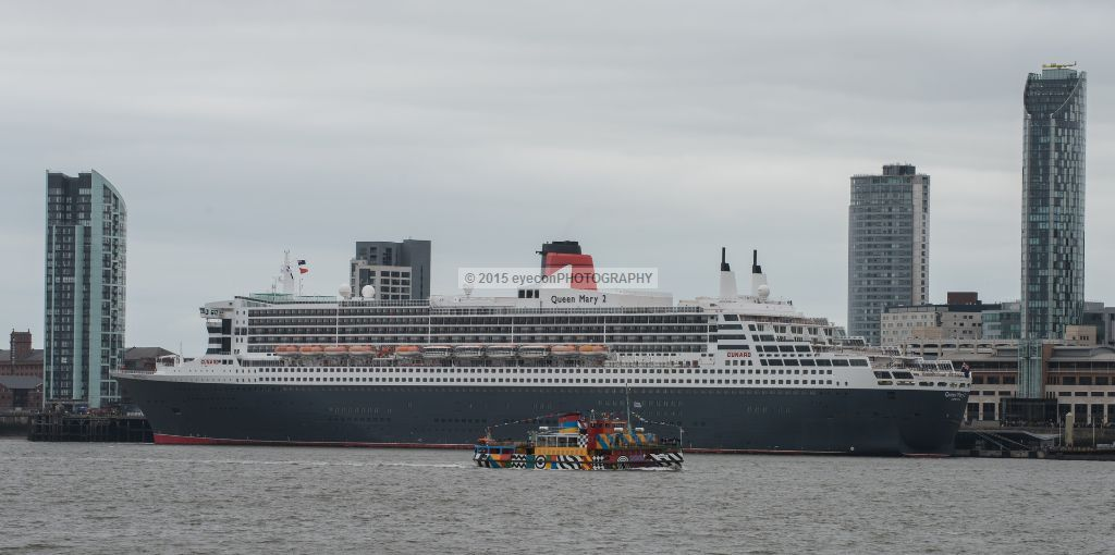 Queen Mary 2 and MV Snowdrop