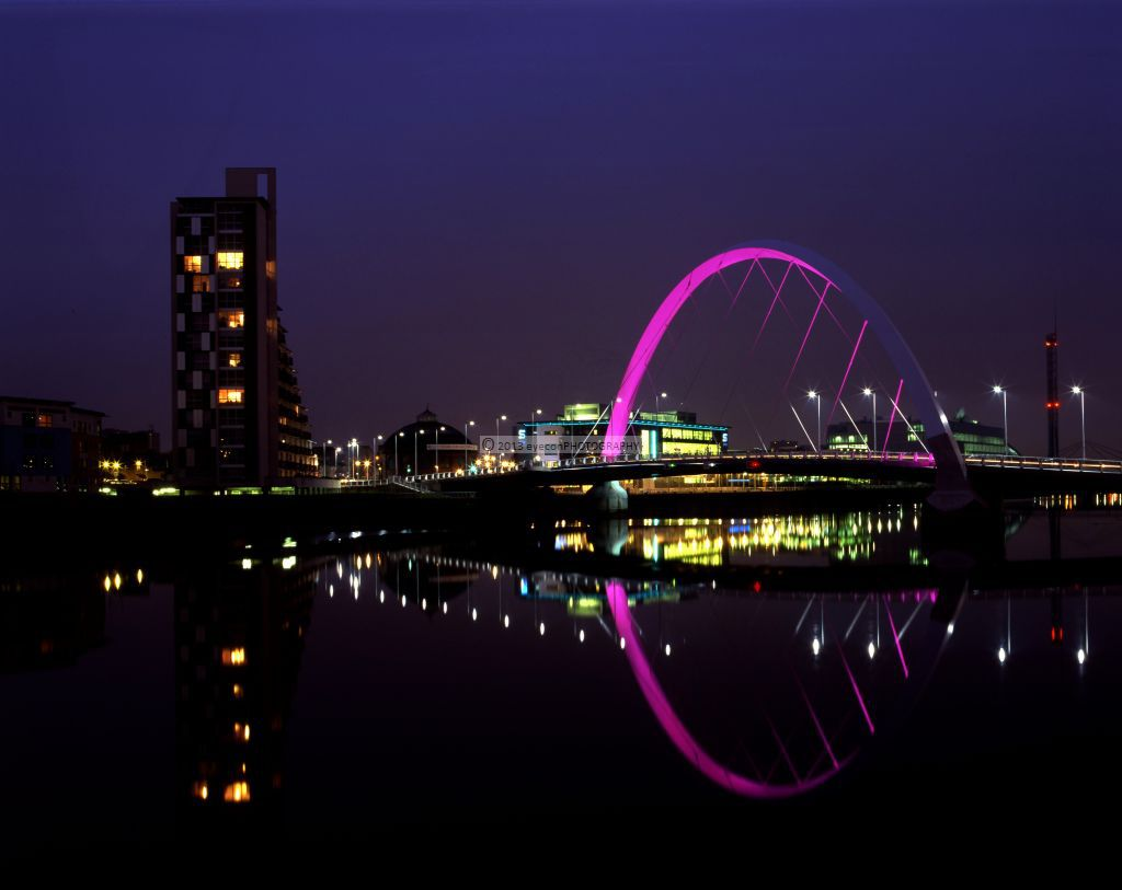 The Clyde Arc at night