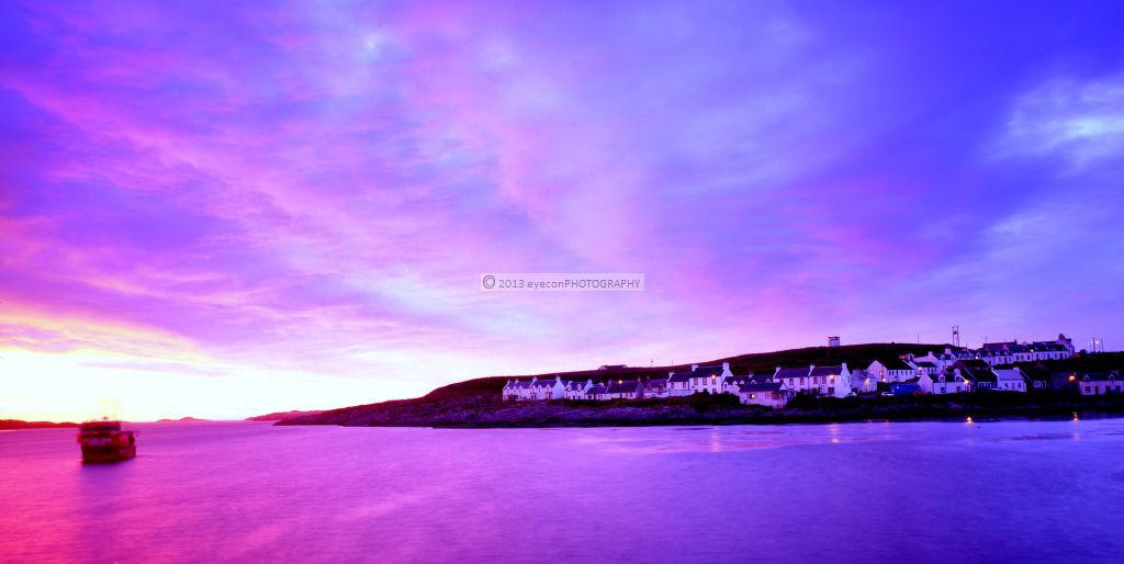 Purple sky over Portnahaven
