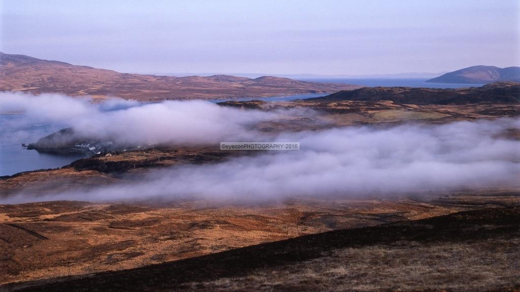 Morning mist over Bunnahabhain Distillery