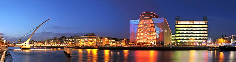 The CCD and Samuel Beckett Bridge
