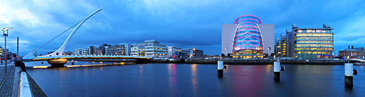 The CCD and Samuel Beckett Bridge