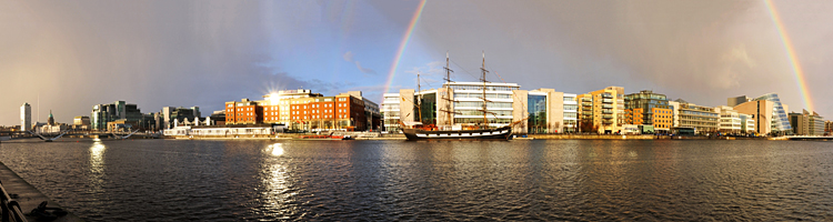 Rainbow on the Liffey River