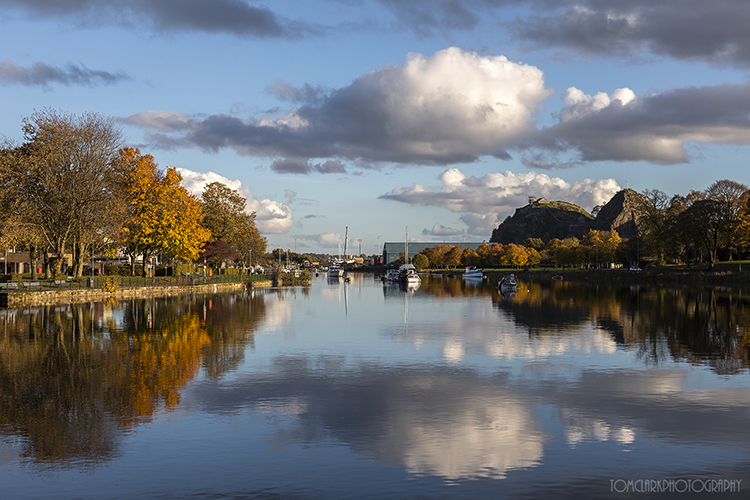 An Autumn day at the River Leven.