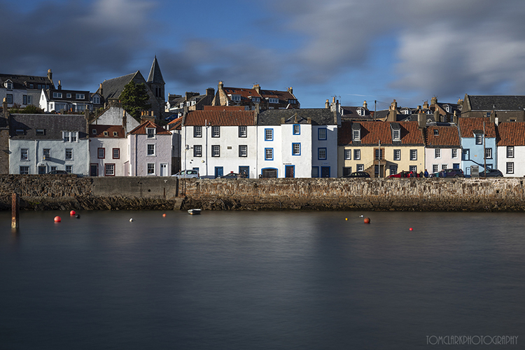 Evening light at St Monans harbour , Fife.