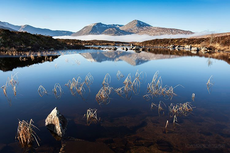 Lochan na h-Achlaise morning.