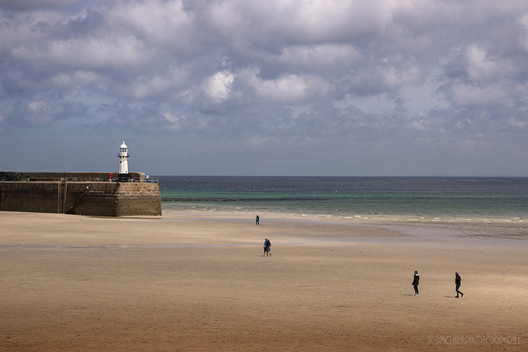 St Ives Beach and Lighthouse