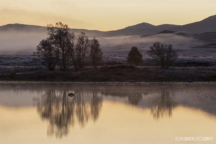 across loch ba at sunrise