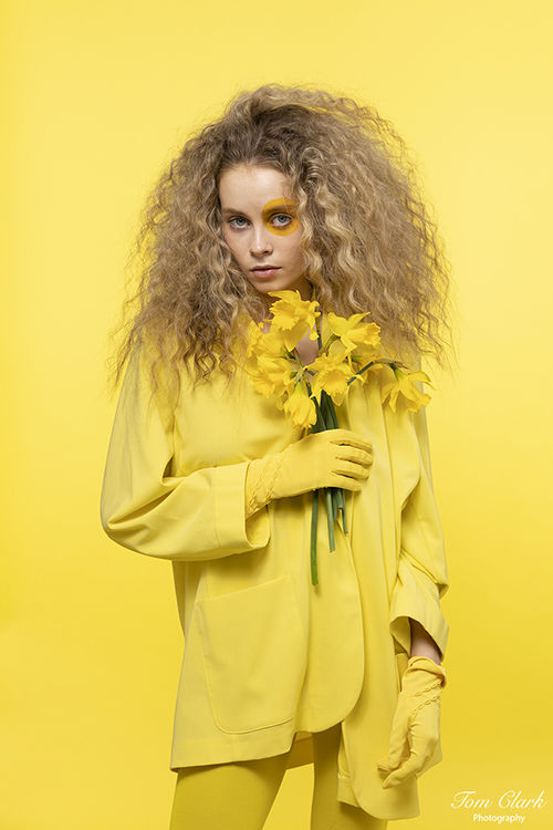 Kate in yellow