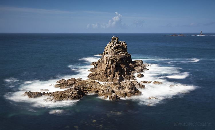 the armed knight rockstack and the longships lighthouse