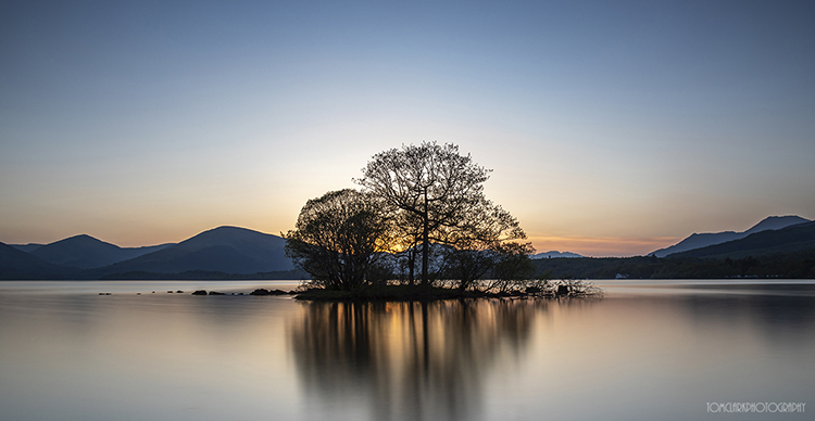loch lomond sunset.