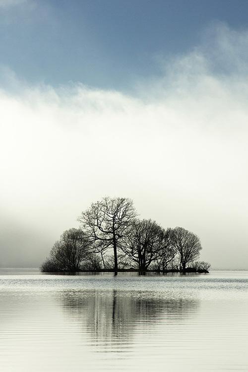 misty loch island