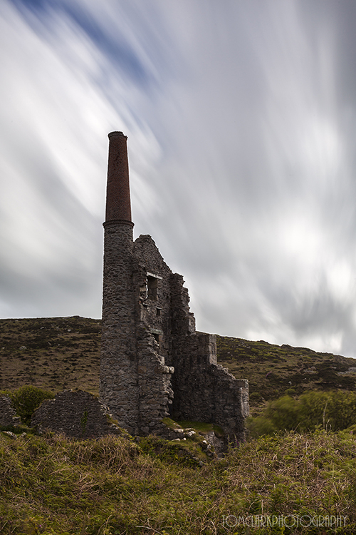 remains of a tin mine.
