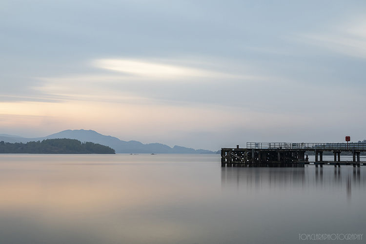 sunrise at luss pier.