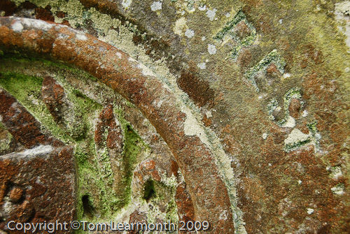 Gravestone at St Thomas a Becket church, Haverfordwest