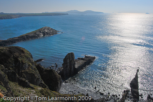 St Bride's bay from St David's Head