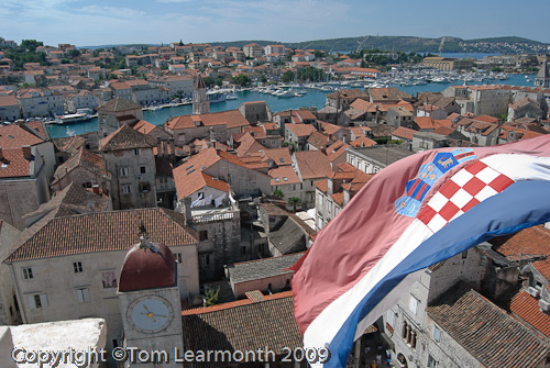 Trogir: the town from the tower of St Lawrence's Cathedral