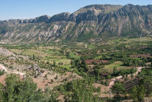 Karadut valley on slopes of Mt Nemrut