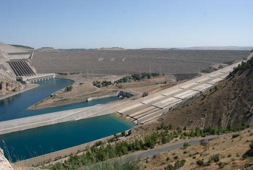 Ataturk Dam on the Euphrates