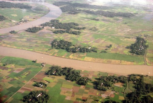 Rural Bangladesh from above