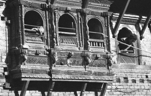 Kirtipur, traditional Newari carved window